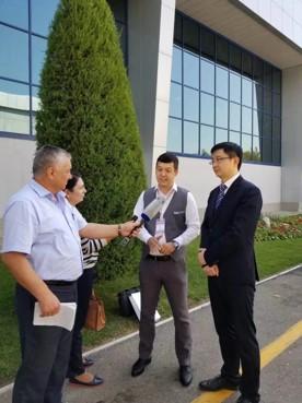 邬剑波主任接受乌兹别克斯坦国家电视台采访