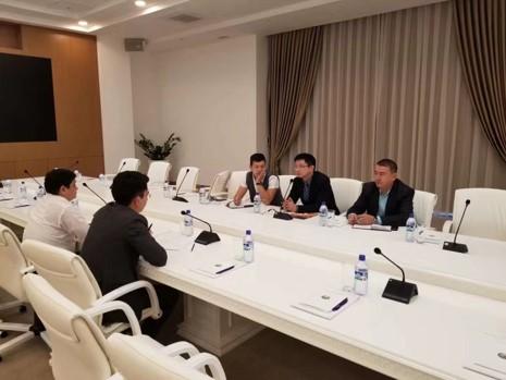 会见塔什干政府与首都市副市长Timur先生